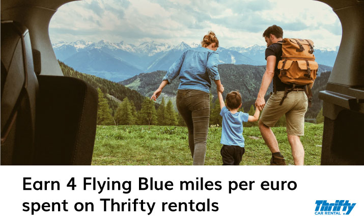 Earn 4 Flying Blue Miles per euro spent on Thrifty rentals